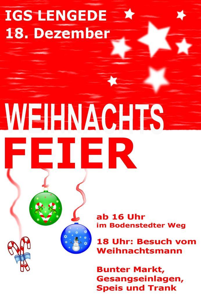 Weihnachtsfeier Plakat.Weihnachtsfeier Igs Lengede